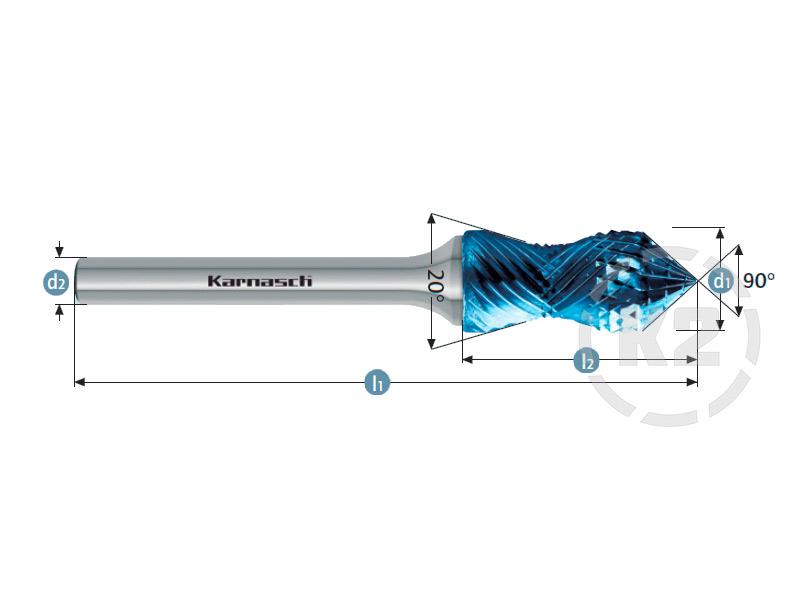 Curve + Зенкер с вершиной 90°