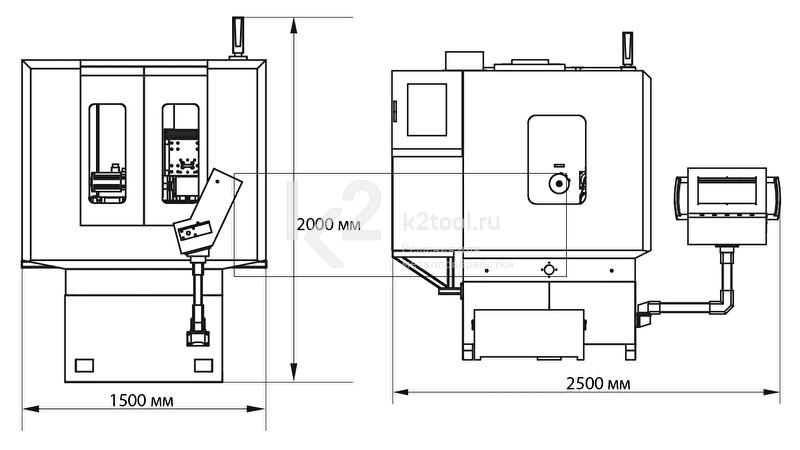 Трехкоординатный заточный станок с ЧПУ A3