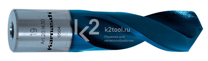 Спиральные сверла из порошковой стали с покрытием DuraBlue. Глубина сверления 40 мм. Диаметры 17–27,5 мм.