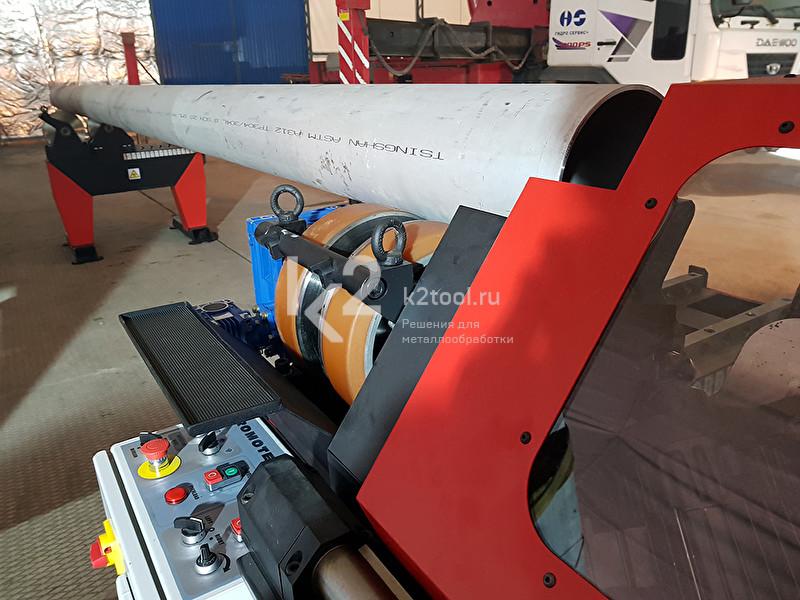 Демонстрация машины для снятия фаски с труб ПРО 40 ПБС