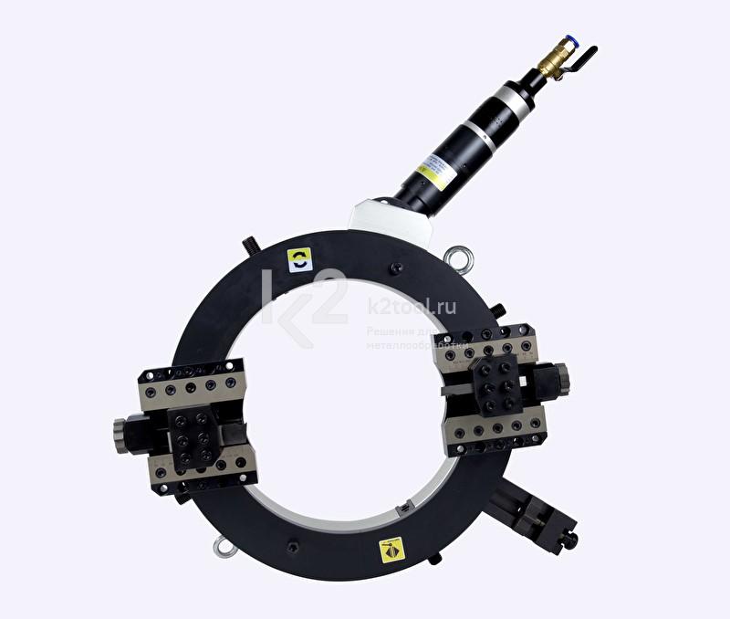 Разъёмный труборез и фаскосниматель TVS-457 с пневматическим приводом