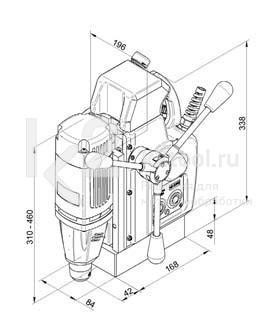 Чертеж магнитного сверлильного станка BDS AutoMAB 350