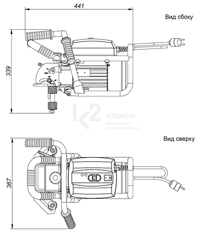 Машина для снятия фаски ВМ-21 - схема
