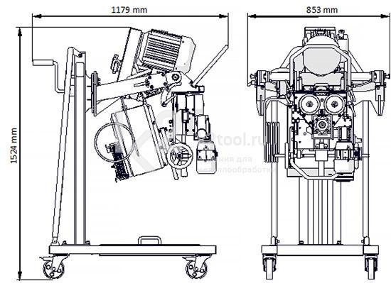 Габариты автоматического кромкореза Promotech ABM-50