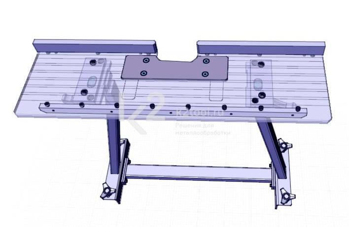Съемный стол для снятия фаски с мелких заготовок UZP-30. Вид сверху