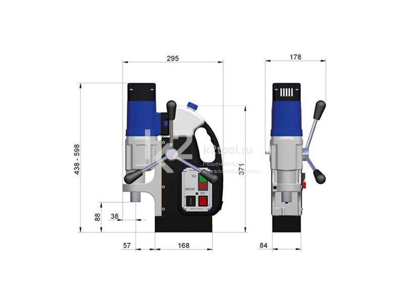 Размеры магнитного сверлильного станка BDS MAB-485