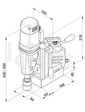 Чертеж магнитного сверлильного станка BDS MABasic 450