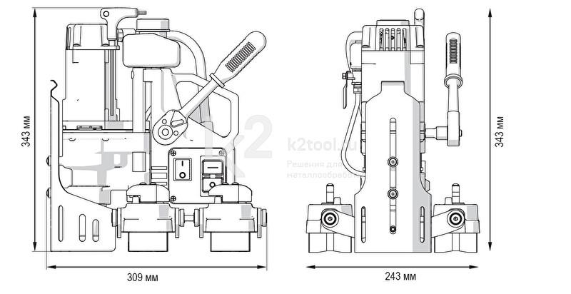 Магнитный сверлильный станок PRO-36 MS