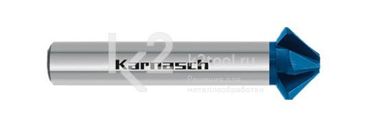 Конусообразная зенковка из быстрорежущей стали XE с покрытием BLUE-TEC, Karnasch артикул 40.3045