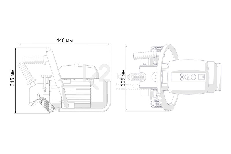 Габариты ручного кромкореза Promotech BM-20 plus