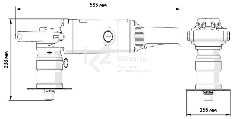 Многоцелевой ручной кромкорез BM-16 - габариты