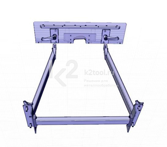 Съемный стол для снятия фаски с мелких заготовок UZP-30. Вид снизу