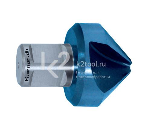 Зенковка Karnasch из специальной стали HSS-XE с покрытием Blue-Tec, артикул 20.1195