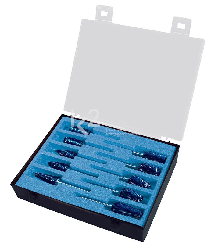 Набор борфрез с покрытием Blue-Tec из 10 шт., Karnasch, арт. 11.4942