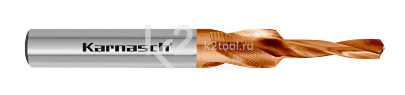 Короткие ступенчатые свёрла для сквозных отверстий, 90° (под винты с потайной головкой), HSS-XE с покрытием TITAN-TEC, Karnasch, арт. 40.2070