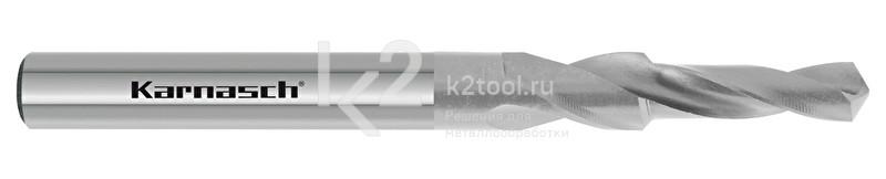 Короткие ступенчатые спиральные сверла, 90° (под винты с потайной головкой), HSS-XE, Karnasch, арт. 40.1060