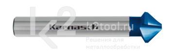 Коническая зенковка  из быстрорежущей стали XE для снятия заусенцев с покрытием BLUE-TEC, Karnasch артикул 20.1765
