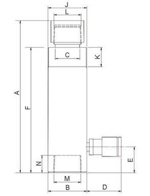 Строительные домкраты с пружинным возвратом (HCJ) - размеры