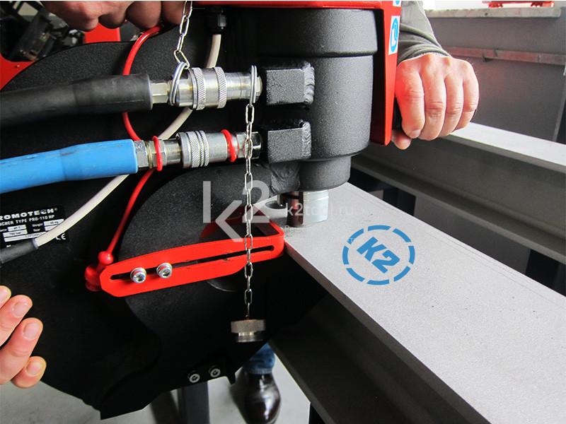 Пресс-перфоратор гидравлический Promotech Pro 110 HP пробивание отверстия в балке