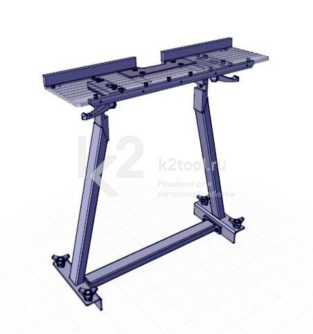 Съемный стол для снятия фаски с мелких заготовок UZP-30. Вид сбоку