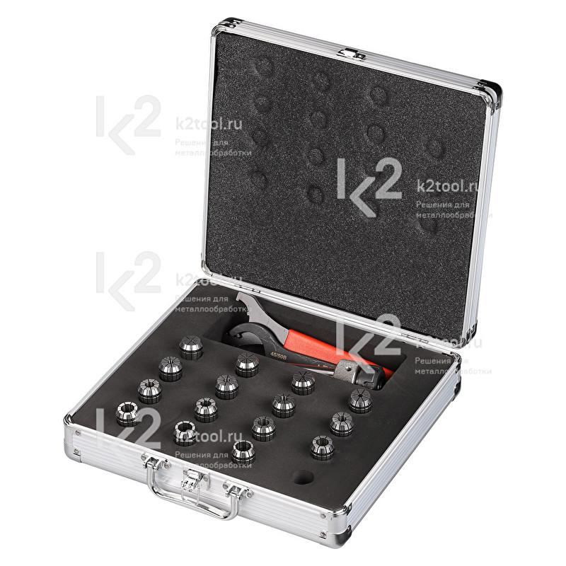 Патрон, набор цанг ZSF 316 и ключи для замены цанг для BDS MAB-825 KTS в кейсе
