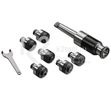 Резьбонарезной набор: патрон с хвостовиком КМ3 и головки предохранительные М3, M4, М5, М6, M8, М10, М12