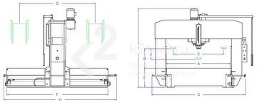 Гидравлический пресс с раздвижной рамкой RHTC TL-150 - схема