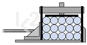 Гидравлическое устройство пакетной резки для ленточнопильных станков Bomar