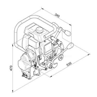 Чертеж магнитного сверлильного станка BDS RailMAB 960