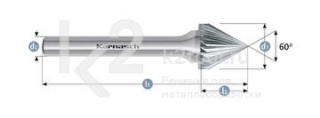 Борфреза: зенкер с вершиной 60°