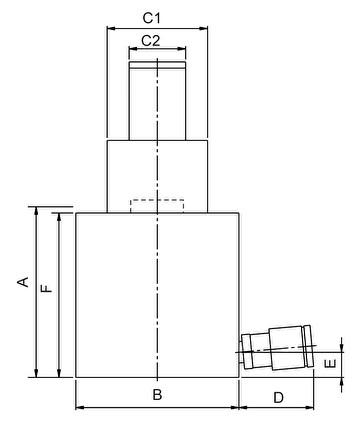 Телескопические домкраты с возвратом под силой тяжести (HFJ, HJ) - размеры