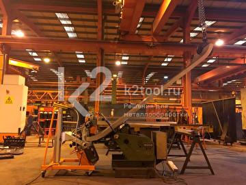 Автоматический кромкорез UZ-50 в цеху
