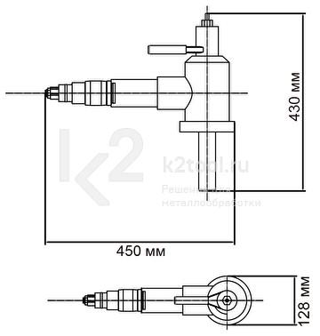 Ручная машина для снятия фаски с труб ТВР-120. Габариты