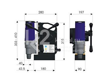 Размеры магнитного сверлильного станка BDS MAB-1500 AUTOMAB SE