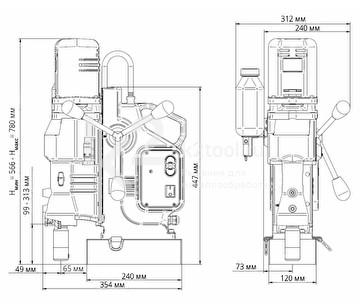 Сверлильный станок МС-111 - габариты