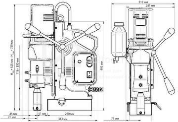 Сверлильный станок MC-76 - габариты