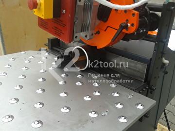 Снятие фаски с трубы кромкорезом UZ-30