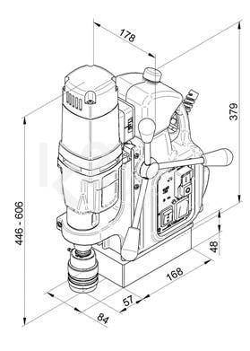 Чертеж магнитного сверлильного станка BDS MAB-485 SB