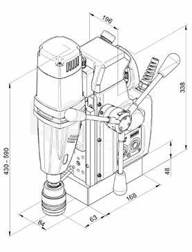 Магнитный сверлильный станок с автоподачей BDS AutoMAB 450 - схема