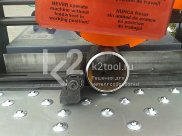 Применение упора для снятия фасок с труб для кромкореза NKO UZ-30