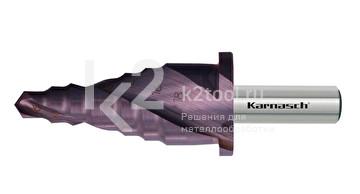 Ступенчатое сверло Ø 6-18 мм для сборных ограждений, HSS-XE с покрытием TiTAN-TEC, Karnasch, арт. 21.3053