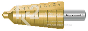 Ступенчатое сверло с прямой кромкой (2 зубца) Karnasch, арт. 21.3010