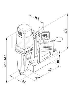 Чертеж магнитного сверлильного станка BDS MABasic 400