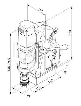Чертеж магнитного сверлильного станка BDS MAB-455 SB