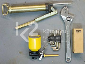 Электромеханический вальцовочный станок Stalex ESR-1550x3.5. Набор инструментов